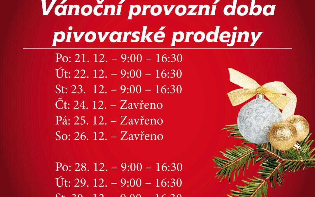 Vánoční provozní doba Olšavanka